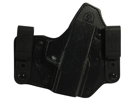 DeSantis Intruder Inside the Wasitband Holster Right Hand Springfield XDS Leather and Kydex Black