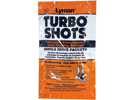 Lyman Turbo Shots Single Serve Ultrasonic Case Cleaning Solution 10 Pack