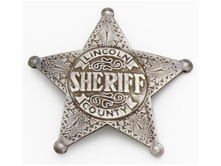 Collector's Armoury Replica Old West Deluxe Lincoln Co. Sheriff - Pat Garrett Badge