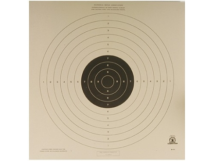 NRA Official International Pistol Target B-33 50' Paper Package of 100