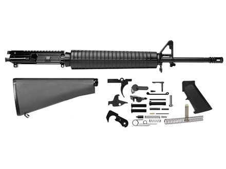 "Del-Ton Rifle Kit AR-15 5.56x45mm NATO 1 in 9"" Twist 20"" Barrel Upper Assembly, Lower Parts Kit, A2 Buttstock Pre-Ban"