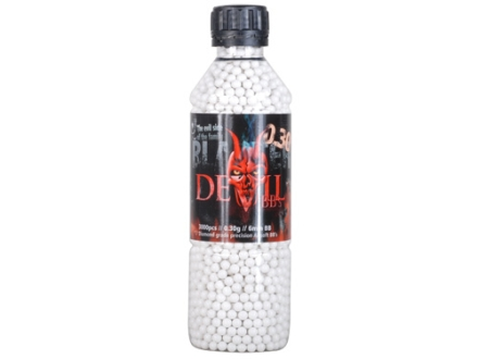 Blaster Devil Airsoft BBs 6mm .30 Gram White Bottle of 3000