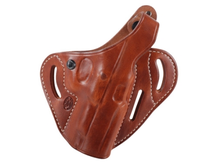 El Paso Saddlery Dual Duty 3 Slot Outside the Waistband Holster Right Hand Ruger P85, P89 Leather Russet Brown