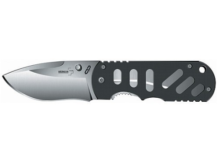 "Boker Plus Hyper Folding Knife 2.75"" Drop Point 440C Black Stainless Steel Blade G-10 Handle Black"