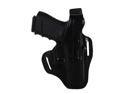 Bianchi 56 Serpent Outside the Waistband Holster Right Hand Glock 19, 23, 32 Leather Black