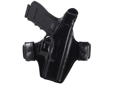 Bianchi Allusion Series 130 Classified Outside the Waistband Holster Right Hand Glock 17, 22, 31 Leather Black