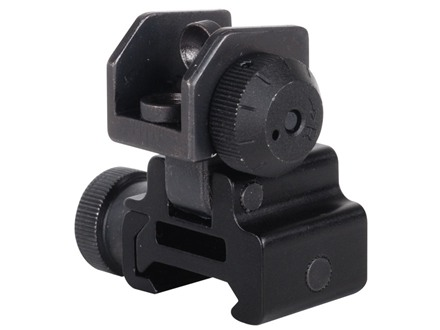 NcStar Flip-Up Rear Sight AR-15 Flat-Top Aluminum Matte