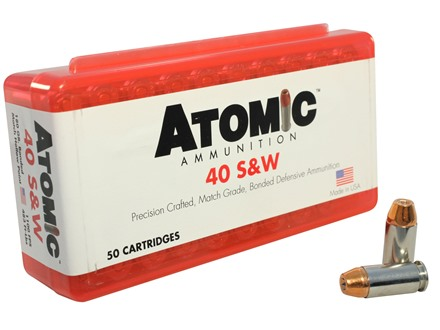 Atomic Ammunition 40 S&W 180 Grain Bonded Jacketed Hollow Point Box of 50