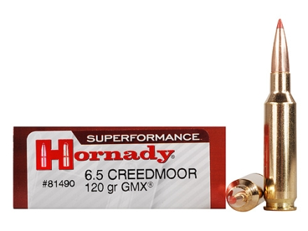 Hornady SUPERFORMANCE GMX Ammunition 6.5 Creedmoor 120 Grain Gilding Metal Expanding Boat Tail Lead-Free Box of 20