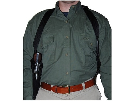 "Uncle Mike's Sidekick Vertical Shoulder Holster Left Hand  Medium, Large Double Action Revolver 7"" to 8.5"" Barrel Nylon Black"