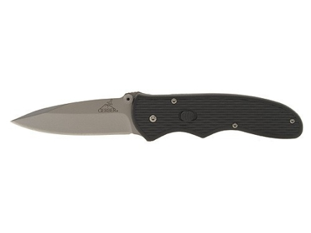 "Gerber Fast Draw Folding Knife 3"" Stainless Steel Drop Point Blade Nylon Handle Black"