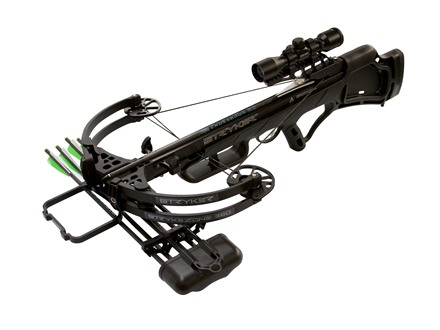 Stryker Strykezone 380 Crossbow Package with 3x 32mm Multi-Reticle Crossbow Scope Black