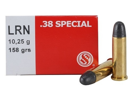Sellier & Bellot Ammunition 38 Special 158 Grain Lead Round Nose Box of 50