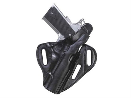 El Paso Saddlery Dual Duty 3 Slot Outside the Waistband Holster Right Hand Ruger P85, P89 Leather Black