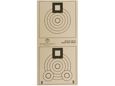 National Target International Bench Rest Shooters Target IBS 200 YD Bench Rest Paper Package of 100