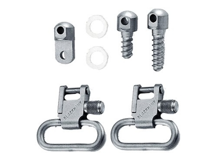 "BlackHawk Lok-Down Sling Swivel Set Ruger 10/22, 44 Carbine, Number 3 1"" Steel Nickel Plated"