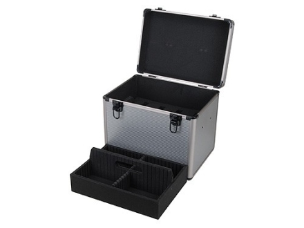 "ADG Pistol Range Box with Removable Tray 14-1/2"" x 10-1/4"" x 7"" Aluminum Gray"