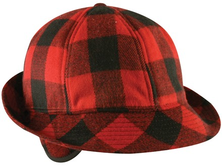Outdoor Cap Insulated Jones Hat Polyester Red Flannel