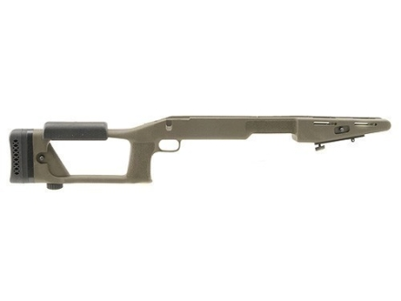 "Choate Ultimate Sniper Rifle Stock Savage 110 Series Long Action Staggered Feed Blind Magazine 1.25"" Barrel Channel Synthetic Olive Drab"