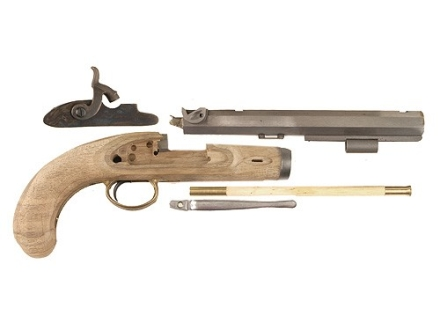 "Lyman Plains Muzzleloading Pistol Unassembled Kit 54 Caliber Percussion 9-3/4"" Blue Barrel"
