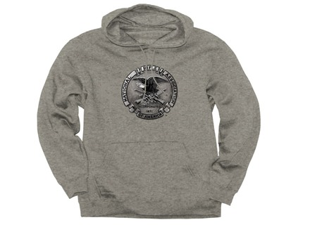 NRA Men's Pewter Hooded Sweatshirt