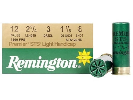 "Remington Premier STS Target Ammunition 12 Gauge 2-3/4"" 1-1/8 oz #8 Shot"
