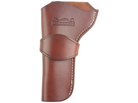 "Van Horn Leather Strong Side Single Loop Holster 7.5"" Single Action Left Hand Leather Chestnut"