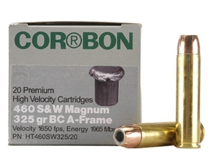 Cor-Bon Hunter Ammunition 460 S&W Magnum 325 Grain A-Frame Bonded Core Soft Point Box of 20
