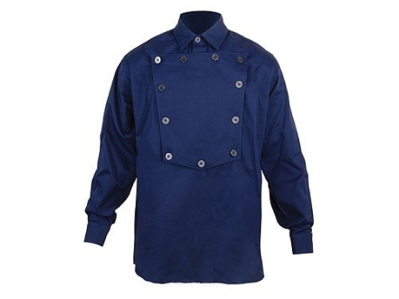 "WahMaker Cavalry Bib Shirt Long Sleeve Cotton Navy 2XL (52"")"