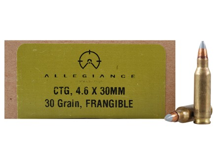 Allegiance Ammunition 4.6x30 HK 31 Grian High Energy Trasfer Frangible Box of 40