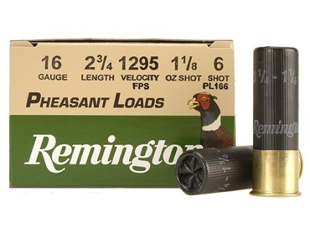 "Remington Pheasant Ammunition 16 Gauge 2-3/4"" 1-1/8 oz #6 Shot Box of 25"