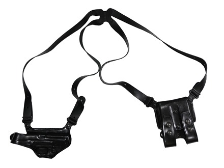 "Galco Miami Classic Shoulder Holster System Right Hand Smith & Wesson M&P 3""-5"" Barrel 9mm, 40 S&W Leather Black"