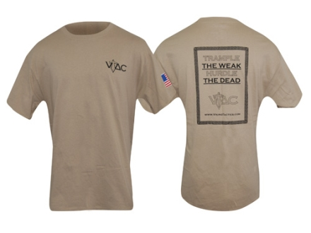 "VTAC ""Trample the Weak"" Short Sleeve T-Shirt XL Cotton Tan"