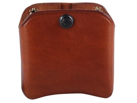 El Paso Saddlery Double Magazine Pouch Double Stack 45 ACP, 10mm Magazine Leather Russet Brown
