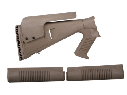 Mesa Tactical Urbino Tactical Stock with Adjustable Cheek Rest and Forend Benelli M4 12 Gauge Synthetic Coyote Tan