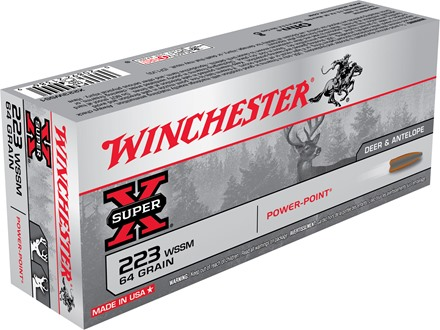 Winchester Super-X Ammunition 223 Winchester Super Short Magnum (WSSM) 64 Grain Power-Point