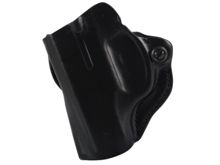 DeSantis Mini Scabbard Outside the Waistband Holster Left Hand Ruger LC9 Leather Black