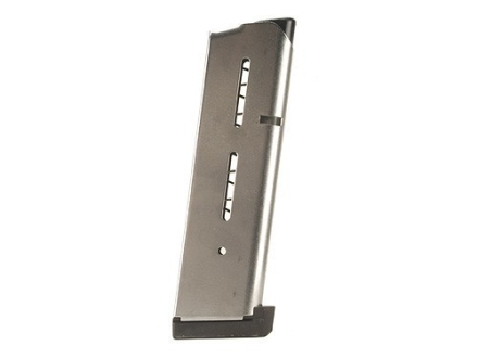Wilson Combat Magazine with Aluminum Base Pad 1911 Government, Commander 45 ACP 8-Round Stainless Steel