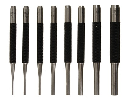 Starrett Drive Pin Punch Set 8-Piece Steel