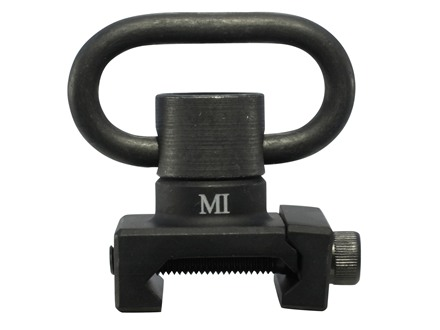 Midwest Industries Rail Mount Sling Adapter Heavy Duty with Quick Detach Sling Swivel AR-15 Aluminum Matte