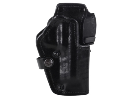 Front Line LKC 3-Layer Belt Holster Right Hand Beretta 92 Suede Lined Leather and Kydex Black