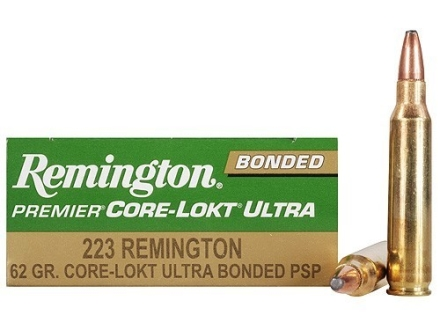 Remington Premier Ammunition 223 Remington 62 Grain Core-Lokt Ultra Bonded Box of 20
