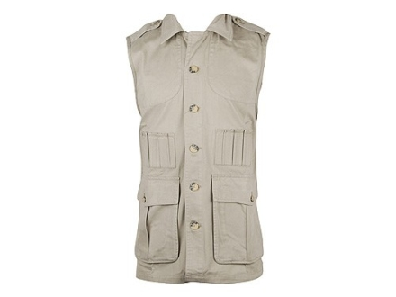 Boyt Men's Shumba Safari Vest Cotton Khaki XL 46-48