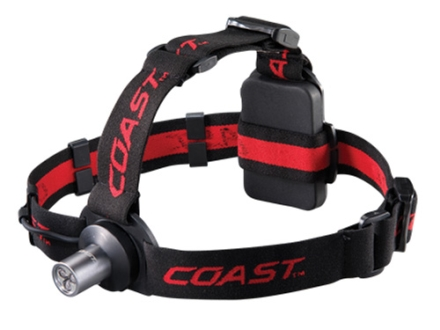 Coast HL3 Headlamp 3 White LEDs with Batteries (3 AAA) Aluminum Gray