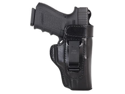 Don Hume H715-M Open Top with Body Shield Inside the Waistband Holster Right Hand Glock 19, 23, 32 Leather Black