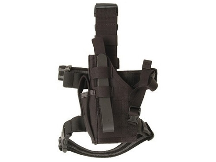 BlackHawk Omega 6 Elite Drop Leg Holster Left Hand Glock 17, 19, 22, 23, 27, Sig P226, P228 Nylon Black