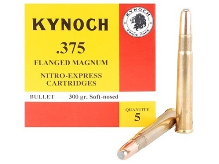 Kynoch Ammunition 375 Flanged Magnum 300 Grain Woodleigh Weldcore Soft Point Box of 5