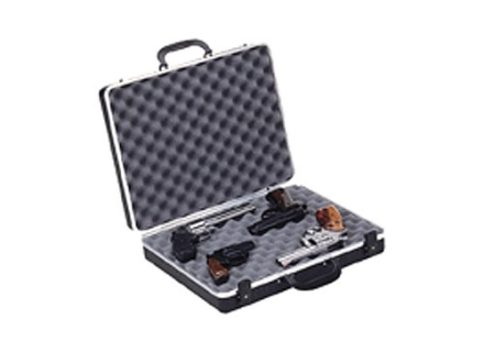 "Plano Gun Guard DLX Four Pistol Case 17-1/2"" x 13-3/4"" x 4"" Polymer Black"
