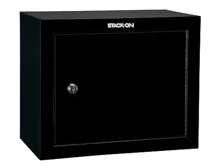 Stack-On Pistol Ammunition Security Cabinet with 2 Shelves Black