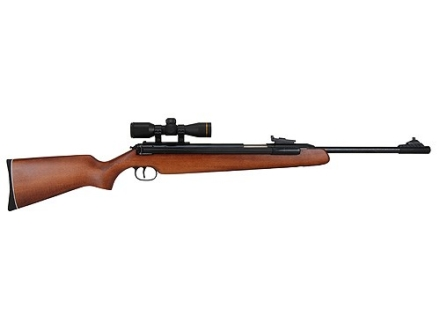RWS 48 Air Rifle 22 Caliber Pellet Wood Stock Blue Barrel with RWS Airgun Scope 4x 32mm Matte